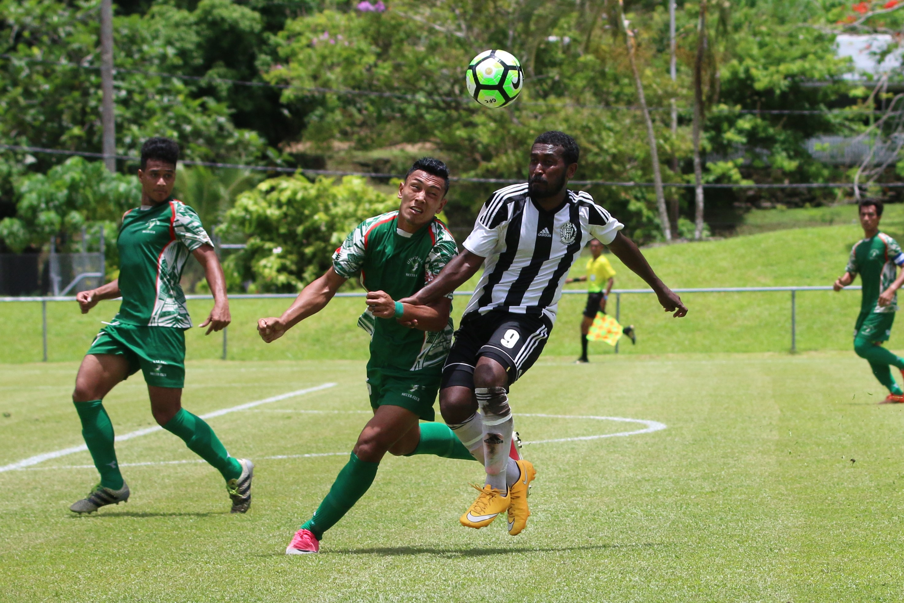 Geoffery Strickland was in fine form for Tupapa Maraerenga in the 1-0 win over Lupe Ole Soaga on Saturday